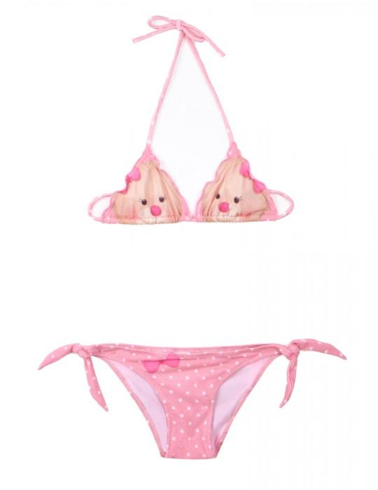 Bikini Baby triangolo scorrevole stampa Tender Bear