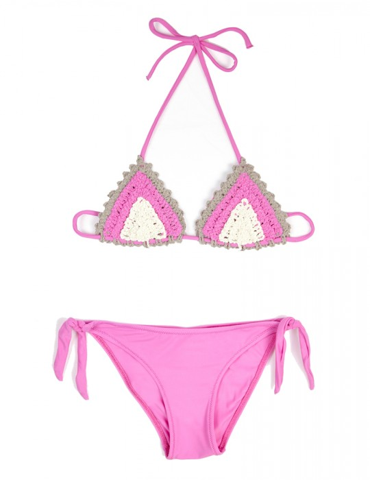 Bikini Baby triangolo scorrevole Crochet Lycra