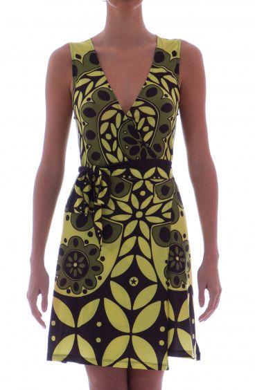 Sleeveless Wrap Dress Majolic Agogoa - 7