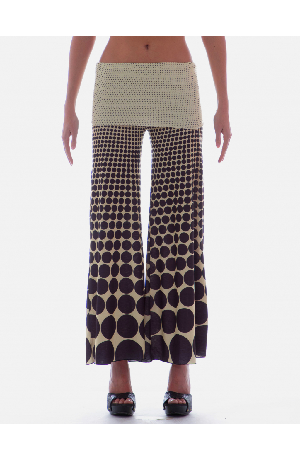 Palazzo trousers Optical pois