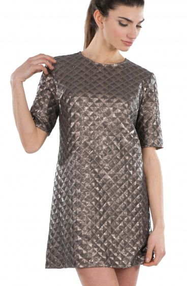 A-line dress with Matelassè sequins Pin-Up Stars - 1