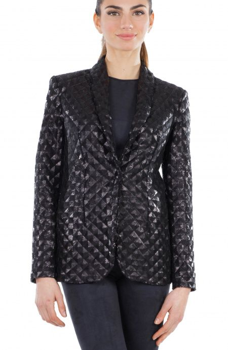 Tuxedo quilted sequins jacket Pin-Up Stars - 1