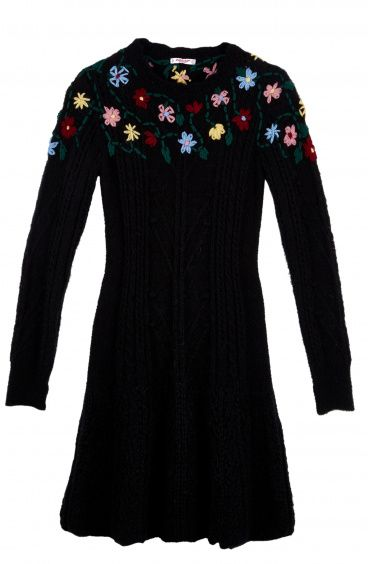 Mohair dress with Floral embroidery Pin-Up Stars - 1