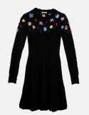 Mohair dress with Floral embroidery