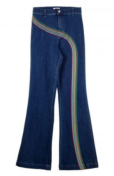 Pantalone Righe con Riga Multicolor Pin-Up Stars - 1