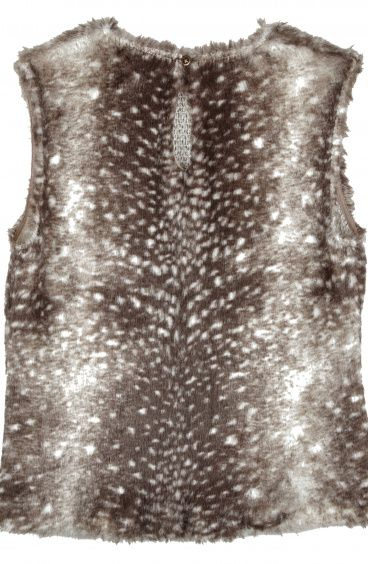 Round-Necked Faux Fur sweater Pin-Up Stars - 1