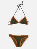 Bikini bambina triangolo scorrevole rete