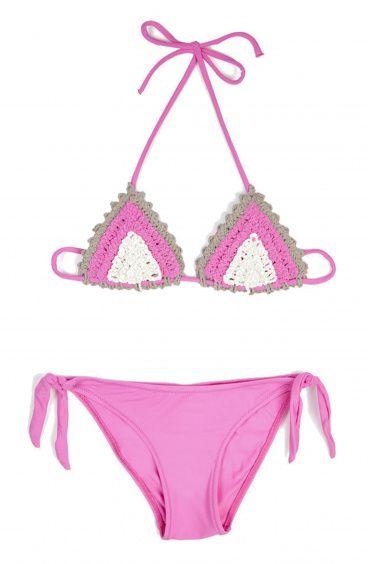 Baby Crochet Triangle Bikini Pin-Up Stars - 1