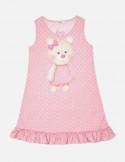 Tender Bear Baby Dress with Frill Hem