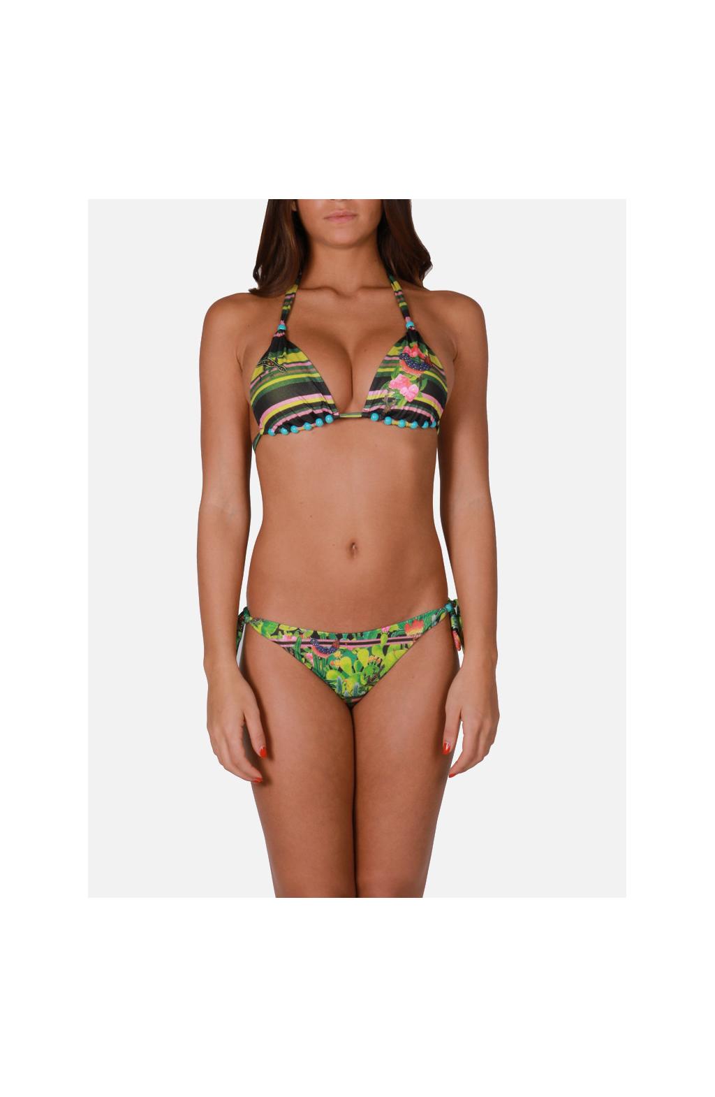 Bikini Triangolo a Vela Tropical Cactus