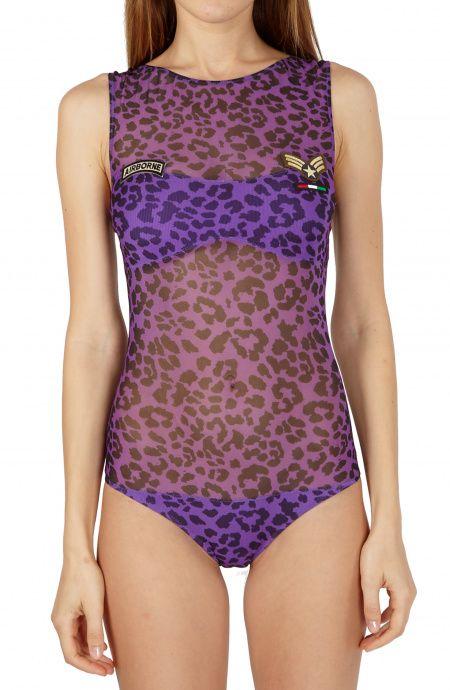 Micro-Net One-Piece Swimsuit Camo Animalier Print Pin-Up Stars - 1