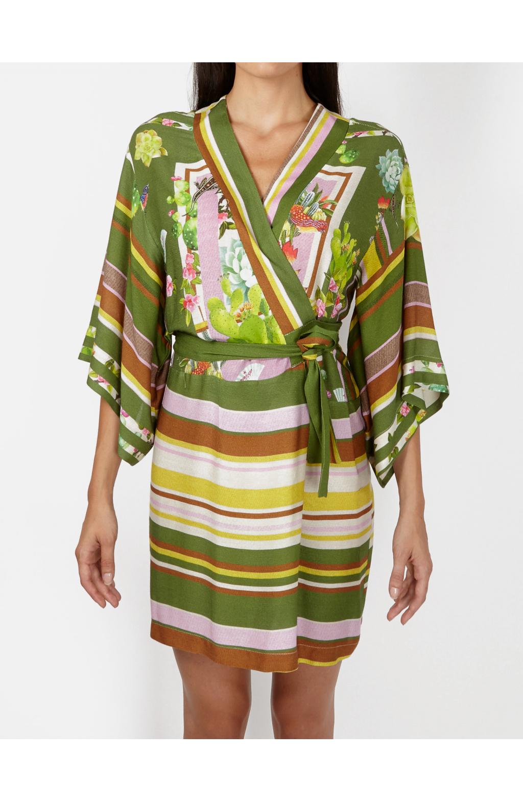 Kimono aperto ad Incrocio Tropical Cactus