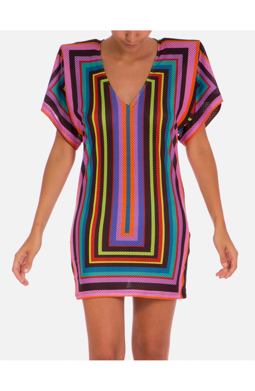 T Dress 80's Shoulders Optical Line