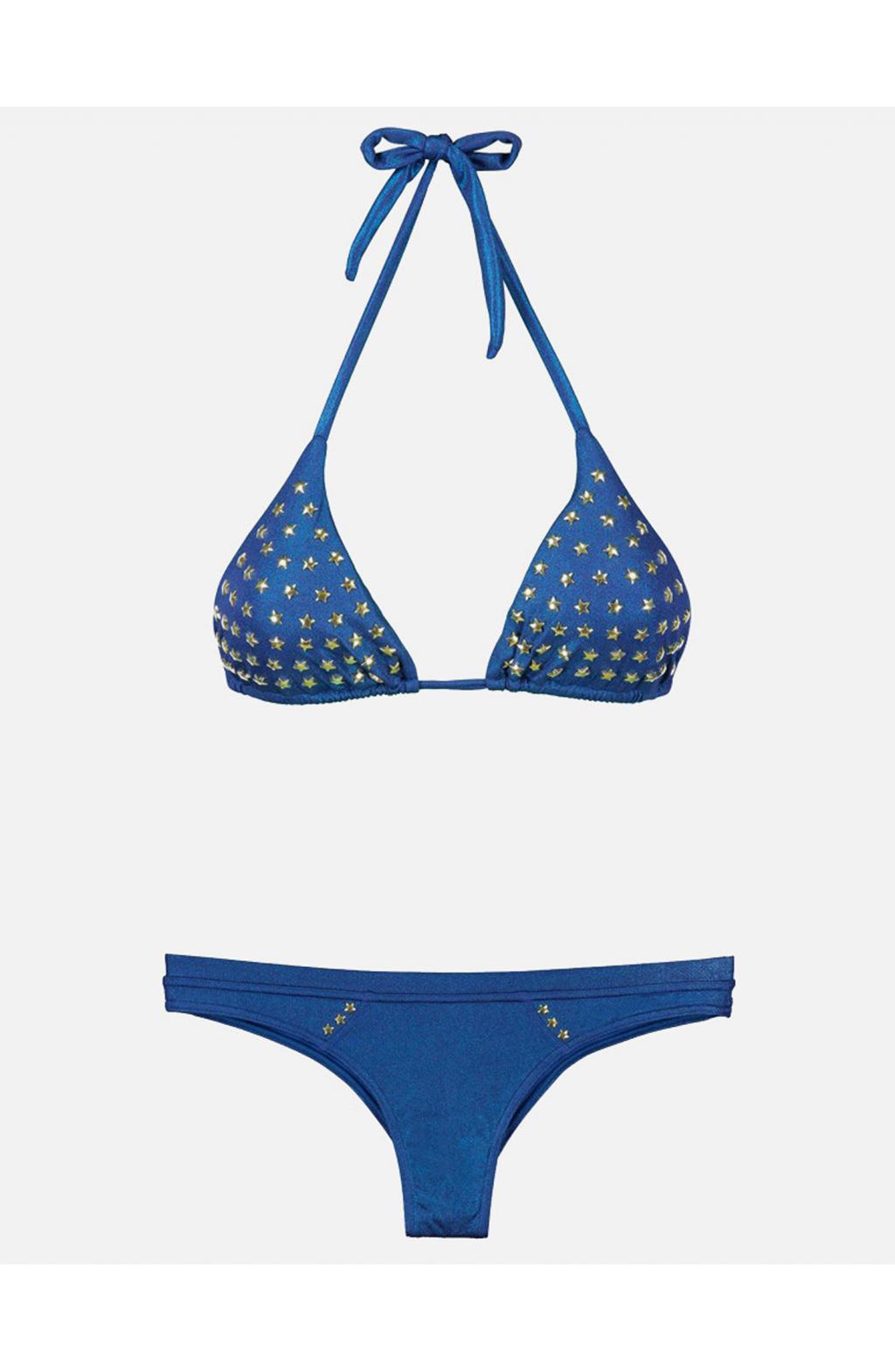 Bikini Triangolo scorrevole stile Navy borchie