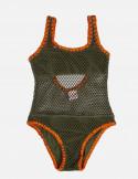 Baby One-Piece Swimsuit Net fabric Shell Stitch