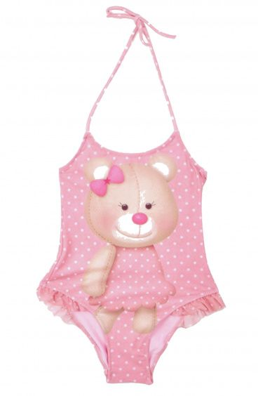 Tender Bear One-Piece Baby Swimsuit Pin-Up Stars - 1