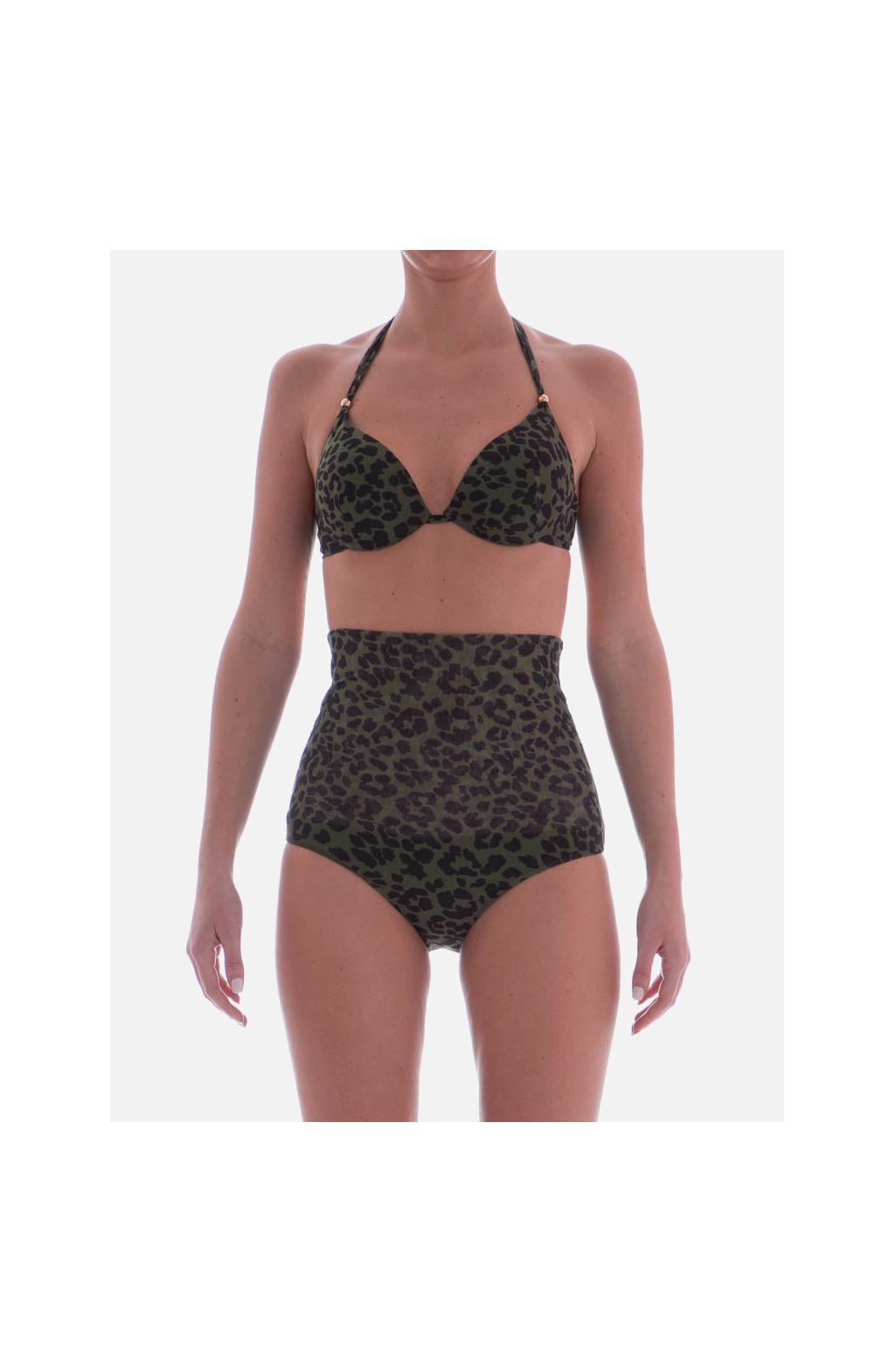 Bikini Balconcino con Ferretto stampa Camo animalier