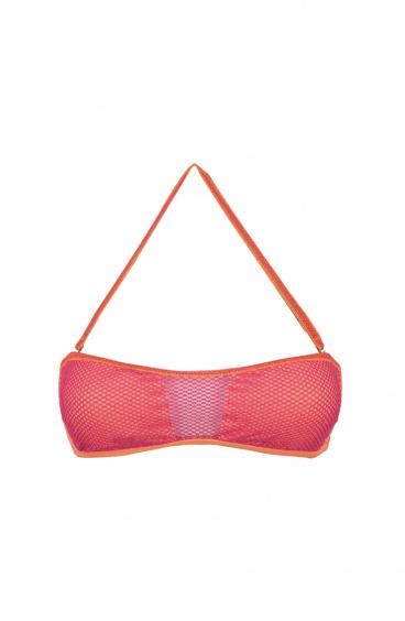 Bikini Fascia Ape imbottita Inserti in rete Lurex Poisson D'Amour - 6