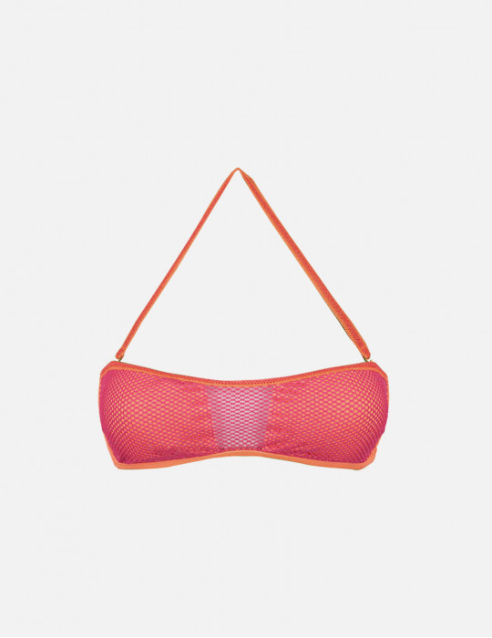 Bee bandeau with Lurex net inserts and removable padding