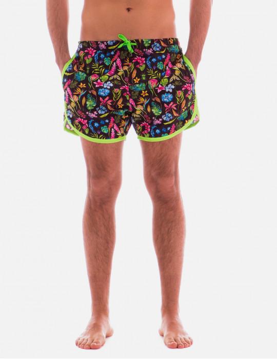 Boxer sport uomo botanic flower - Costumi da bagno pin up ...