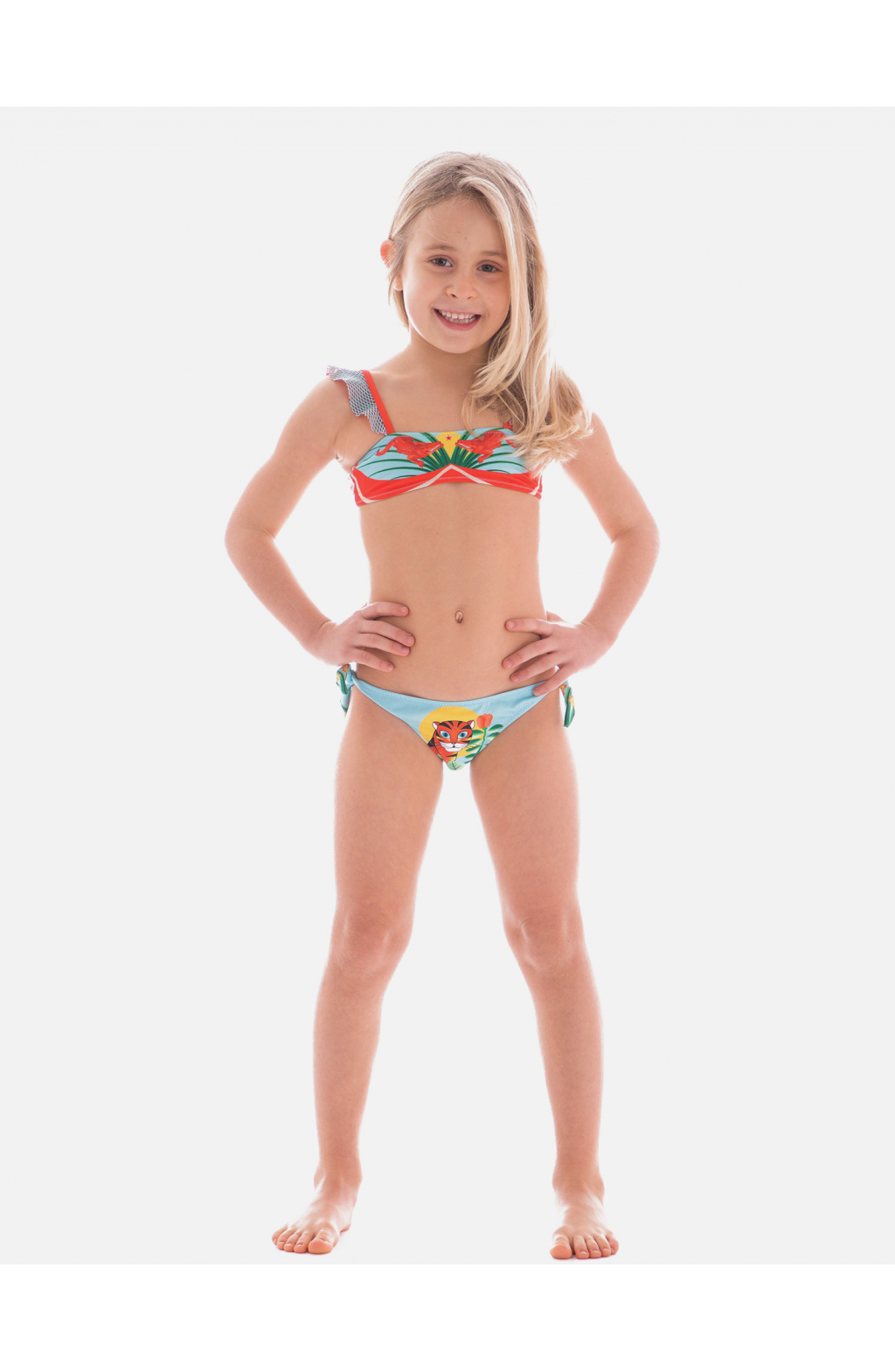 Bandeau Bikini with Rouches Jungle Baby