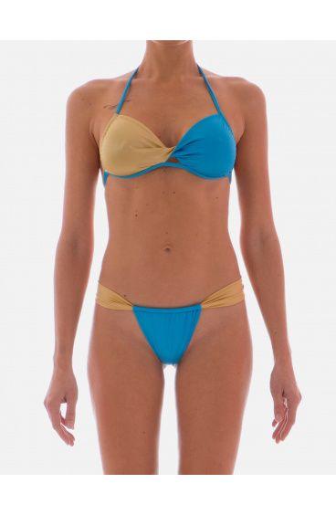 Bikini a Fascia Twist Double Color Agogoa - 1