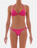 Slide Triangle Bikini plain color liquid effect
