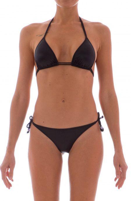 Bikini Triangolo Scorrevole tinta unita effetto liquid Agogoa - 7