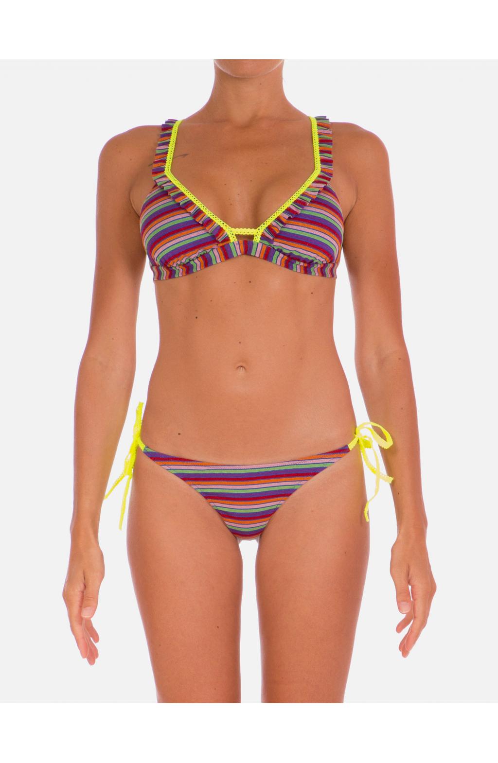 Bikini Brassiere Rouches Lurex Multicolor