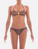 Bikini Brassiere Central Zip Optical Line