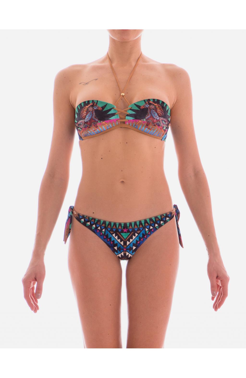 Bikini a Fascia stampa Gaucho Dream