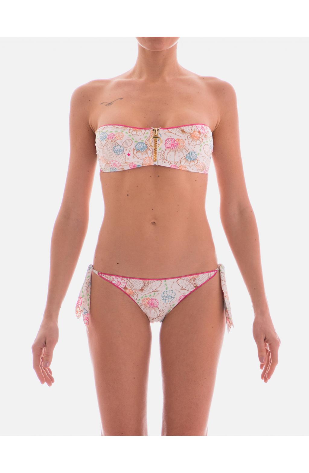 Bikini a Fascia Stampa Cactus