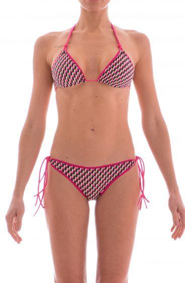 Bikini Triangolo Scorrevole Alcantara Cilindri Agogoa - 1