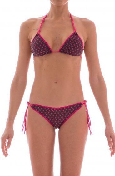 Bikini Triangolo Scorrevole Alcantara Formiche Agogoa - 4