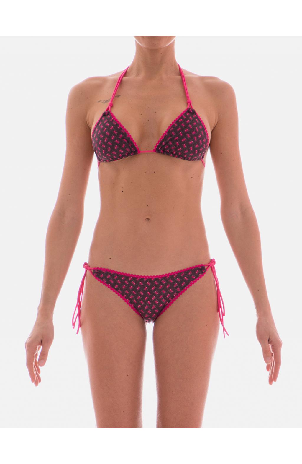 Bikini Triangolo Scorrevole Alcantara Formiche