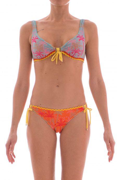 Bikini Brassiere Con Centroseno Timbri Pin-Up Stars - 12
