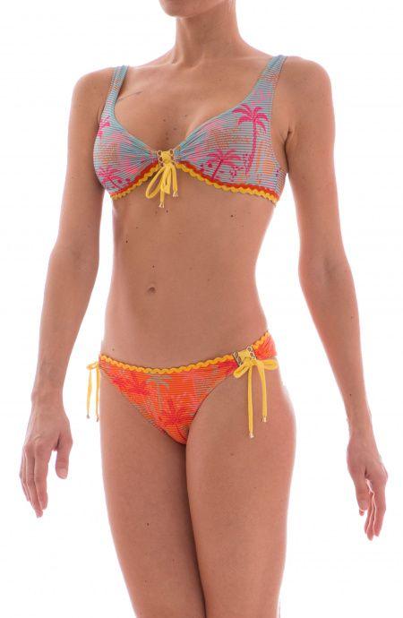 Bikini Brassiere Con Centroseno Timbri Pin-Up Stars - 14