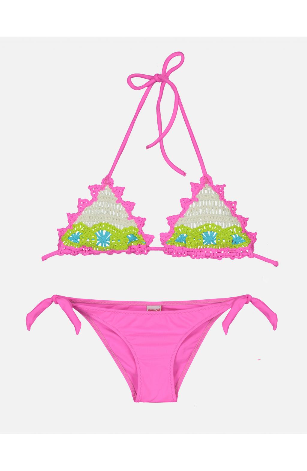 Bikini Triangolo Scorrevole Uncinetto Baby