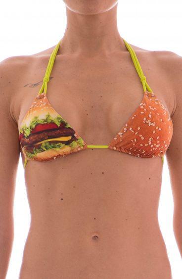 Bikini Triangolo Scorrevole Hamburger Agogoa - 1