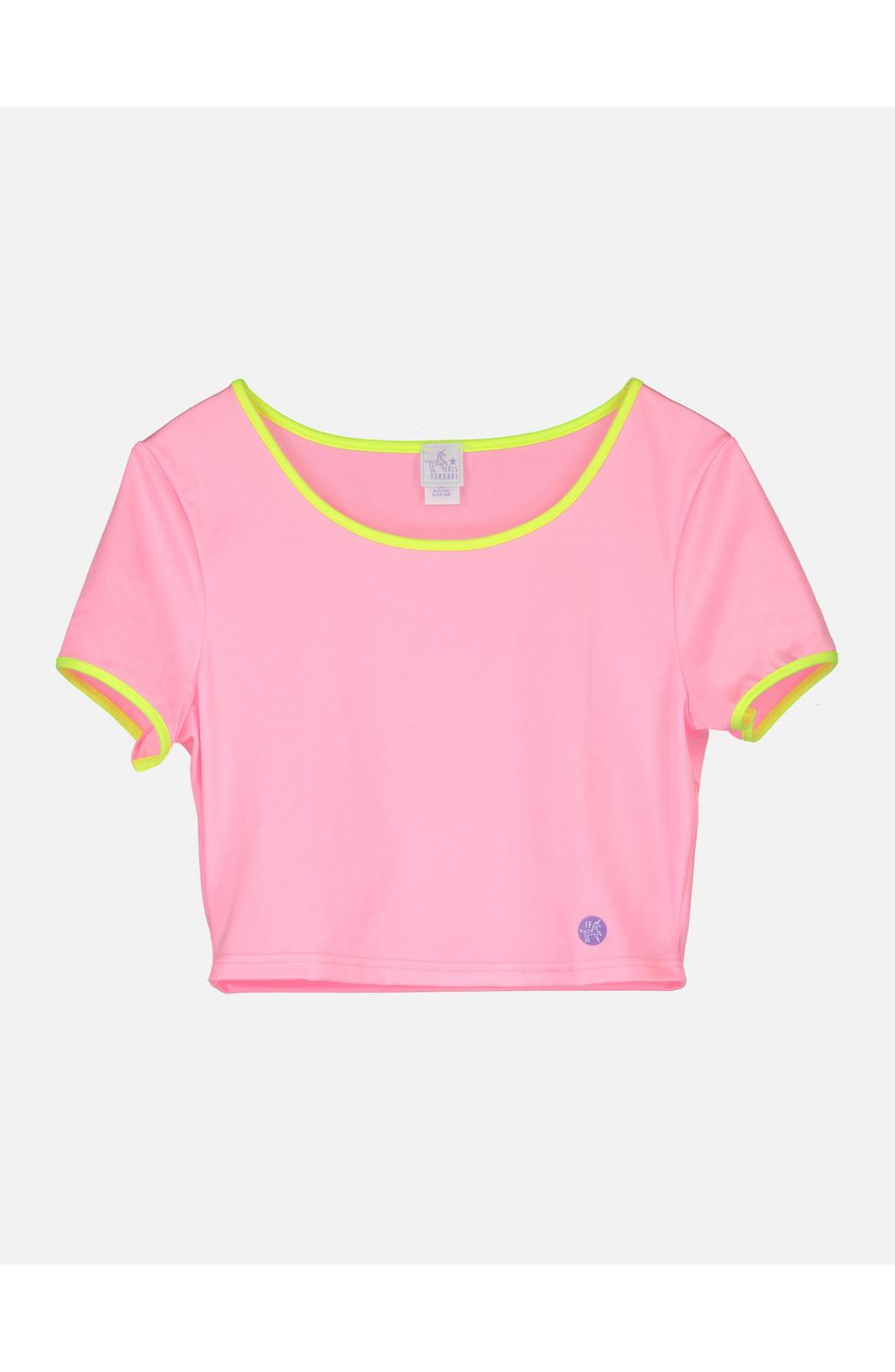 Crop Top tinta unita rosa