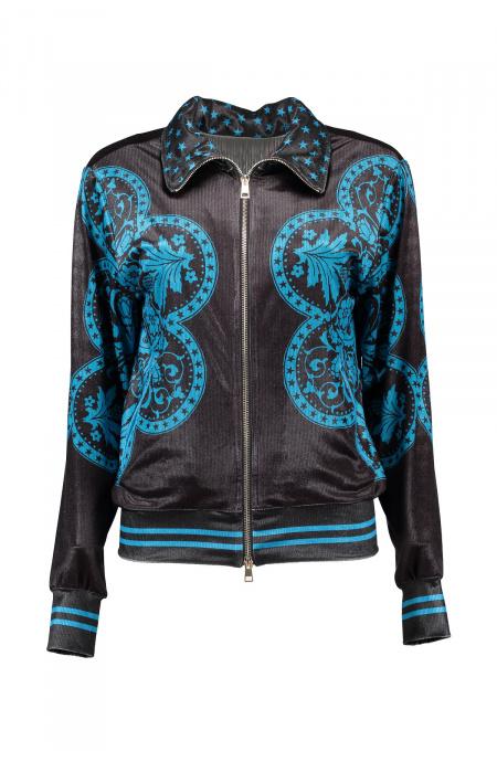Sweatshirt Chenille Maiolica Pin-Up Stars - 1