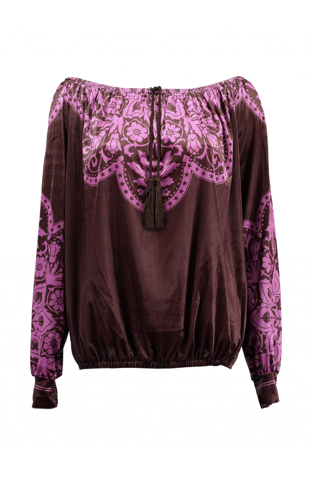 Blusa Ciniglia velvet maiolica