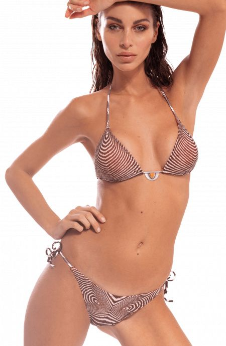 Bikini Triangolo Optical Slip Brasiliano Pin-Up Stars - 1