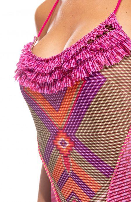 Costume Da Bagno Intero Jais con Rouches Pin-Up Stars - 2