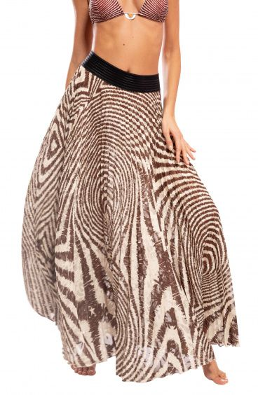 Maxi Skirt Plissè Optical Pin-Up Stars - 1