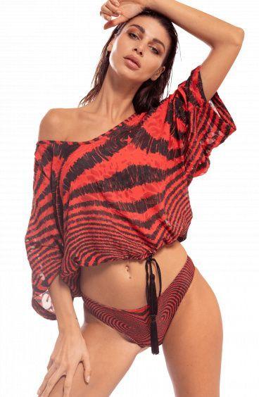 cb76a2ae22 Fixed Triangle Bikini Optical High Waist Slip Size S Color Pink