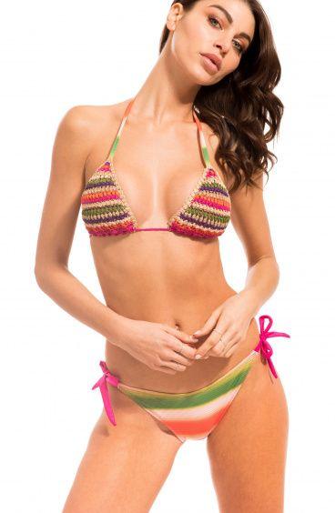 Bikini Triangolo Crochet Slip Fiocchi Pin-Up Stars - 1