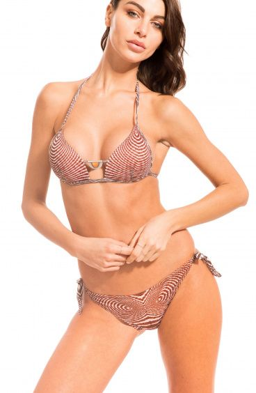 Bikini Triangolo Fisso Optical Slip Fiocchi Pin-Up Stars - 4