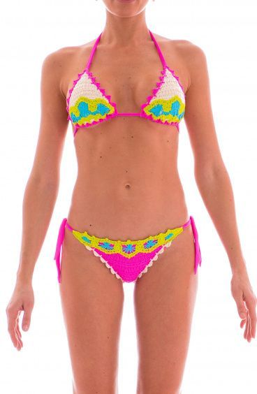 Crochet Sliding Triangle Bikini Pin-Up Stars - 12