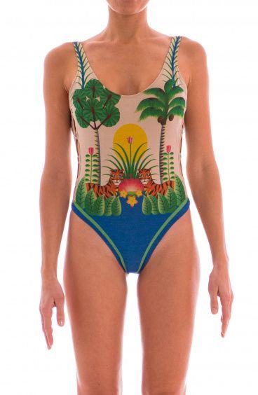 Costume Intero Lurex Jungle Intreccio Anelli Pin-Up Stars - 1